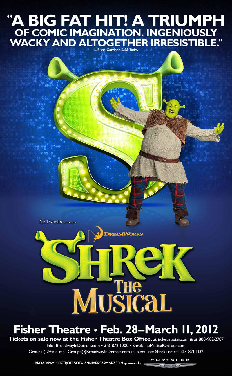Shrek The Musical 3-sheet poster